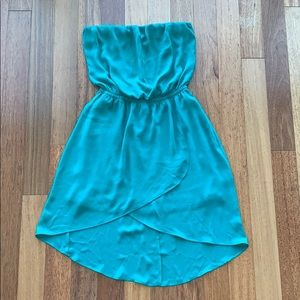 Express strapless High-Low dress size XS